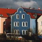 Das blaue Haus am Regen