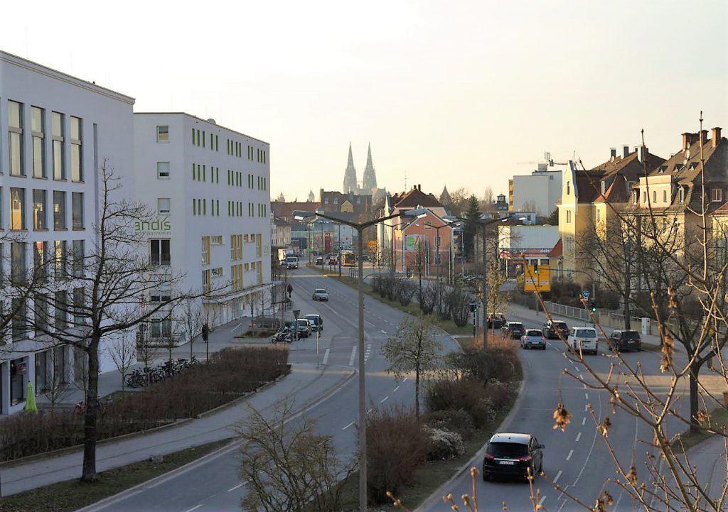 Blick zum Dom vom Südbalkon