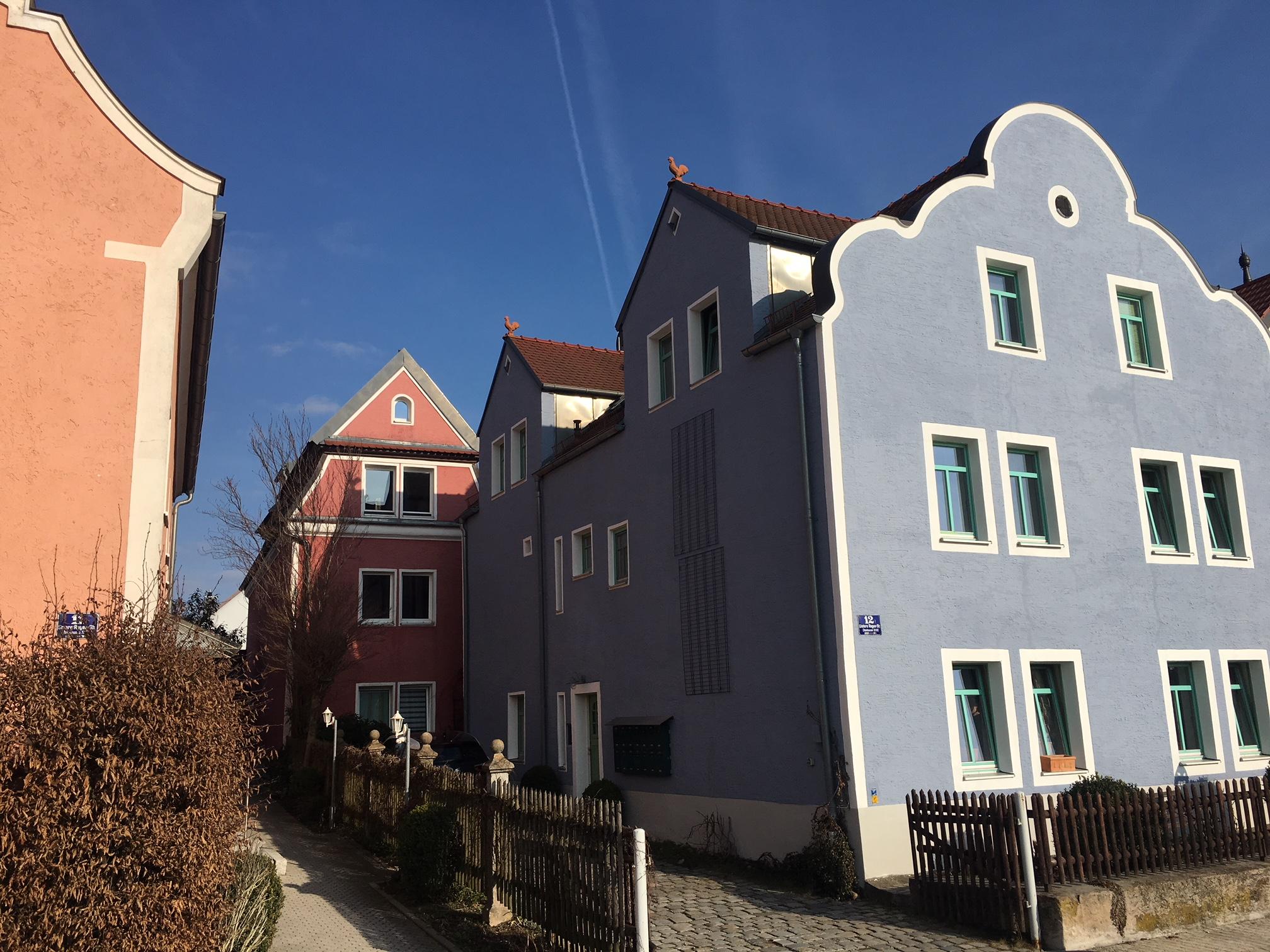 Blaue Häuser das blaue haus am regen ingenieurbüro michael löw
