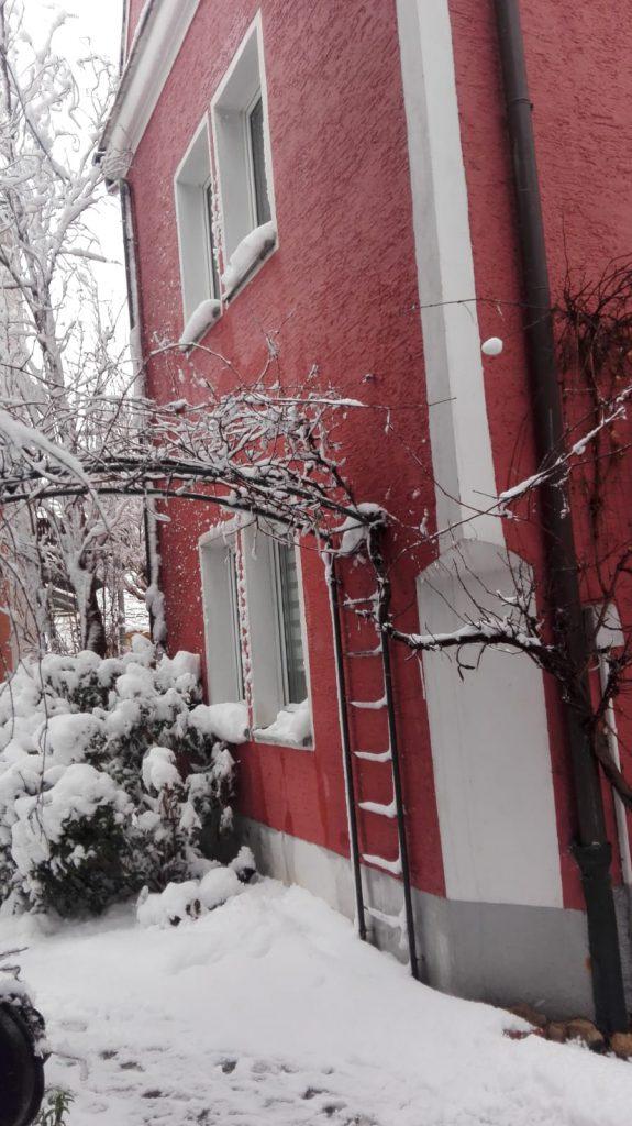 Rotes Hinterhaus